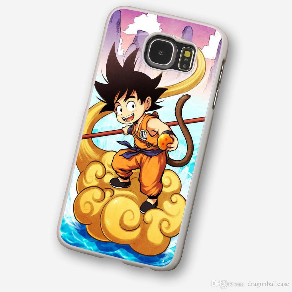 Dragon Ball Z Anime White Phone Case For Iphone 5c 5s 6s 6plus 6splus 7 7plus Samsung Galaxy S5 S6 S6ep S7 S7ep