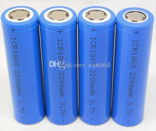 손전등 전원 은행 300PCS / 많은 18650 2200mAh 3.7V (평면 상단 포함) 충전식 리튬 이온 배터리