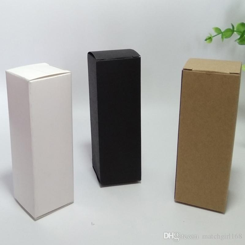 50 pcs 4 * 4 * 12 cm Marrom / Branco / Preto em Branco Caixa de Papel Kraft para válvulas Cosméticas tubos Artesanato Caixa de Embalagem de Presente de Vela