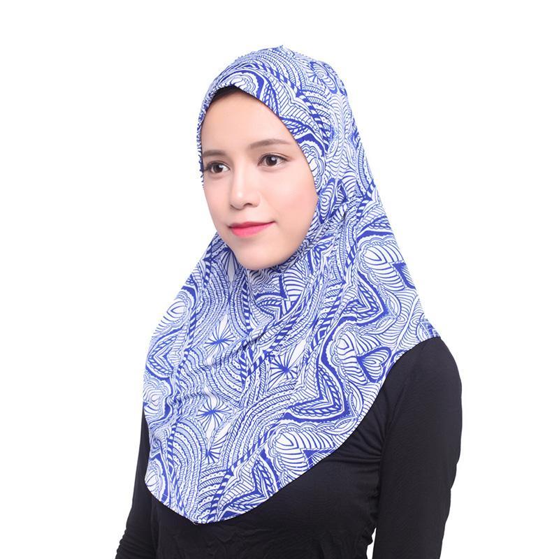 Padrão floral Hijabs Muçulmano Chapéu De Seda para As Mulheres Cachecol Hijabs Nova Moda Chapelaria Turbante Oriente Médio Clã Árabe Popular Chapelaria Lenço na Cabeça