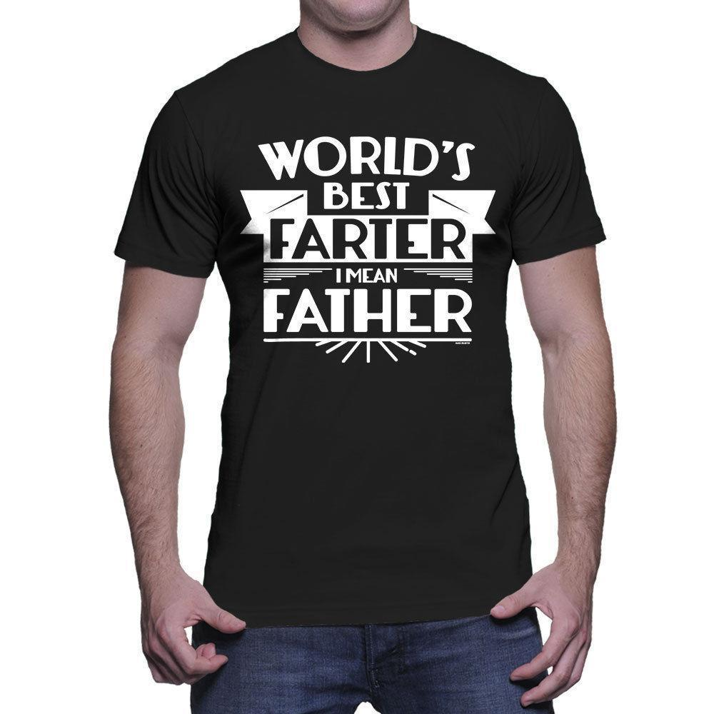 QUALITY Worlds best farter I mean father tshirt T-shirt dad men fathers day tee