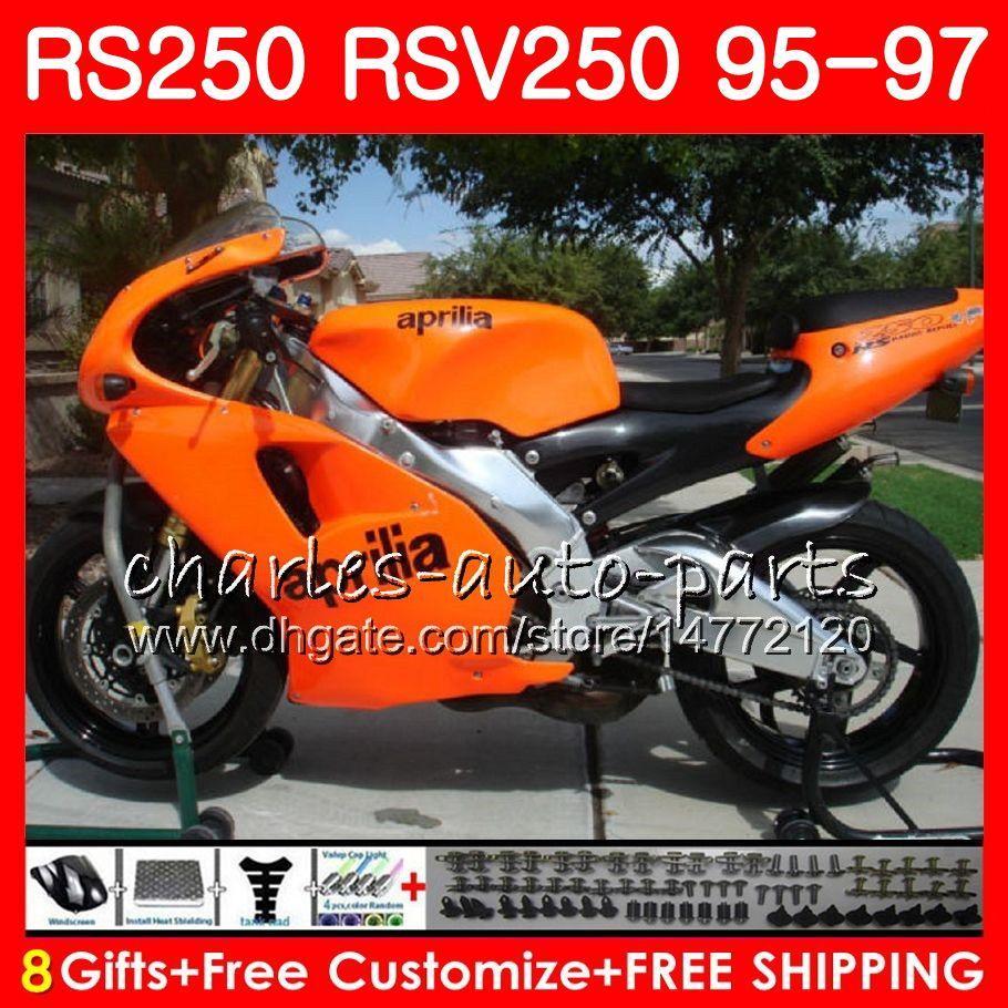 Połysk pomarańczowy nadwozie do Kilia RS-250 RSV250 RS250 95 96 97 Body 101HM12 RSV250RR RS250R 95 97 RSV 250 RR RS 250 1995 1996 1997 Owalnia