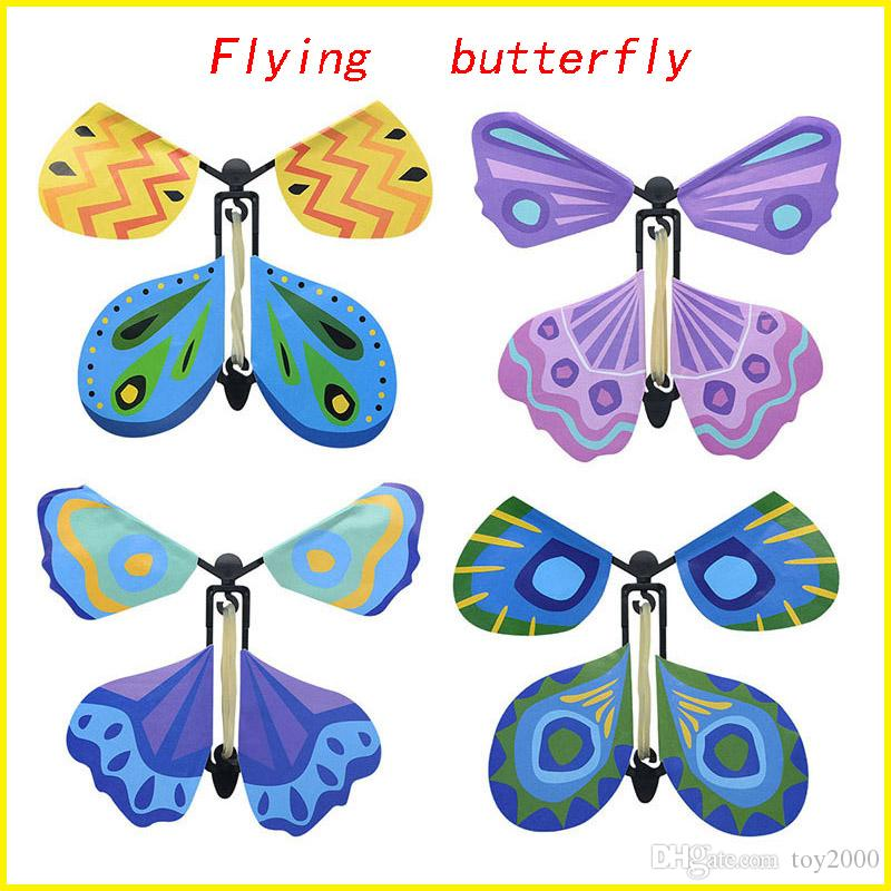 Creative Sale Exclusive Magic Flying Butterfly Baby Toys Easy To Do Magic Tricks Props Toys For Children Kid Novelty Games Surprising Gifts