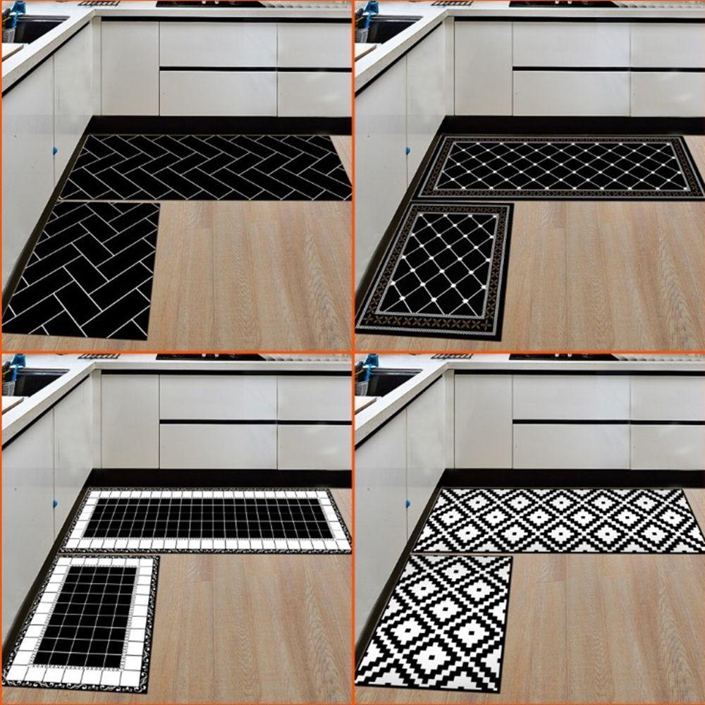 Casa e tapetes de cozinha Tapetes modernos Non-Slip backing Capacho Runner Area Mats entrada Set (15,7 * 23,6 polegadas + 15,7 * 47,2 polegadas)