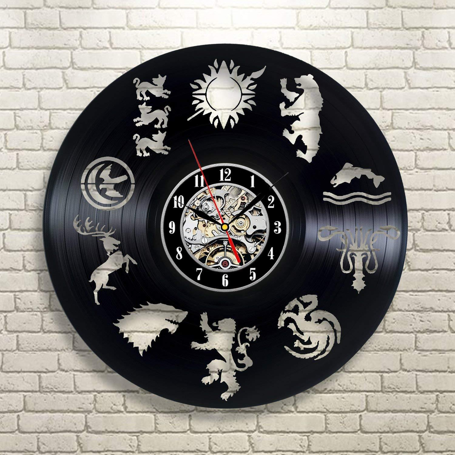 Game of Thrones Dragon Vintage Theme Decor Ultra Home Decorative Wall Mounted Clock For Family Room Art hanging For new design