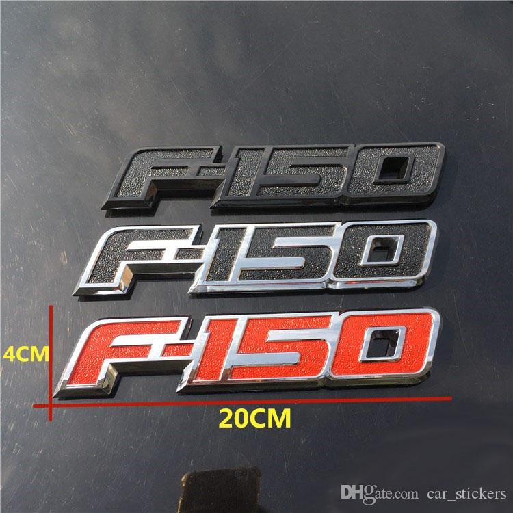 New Cool 3D ABS F150 LOGO Car Sticker Side Emblem Decal Rear Badge For Ford F150