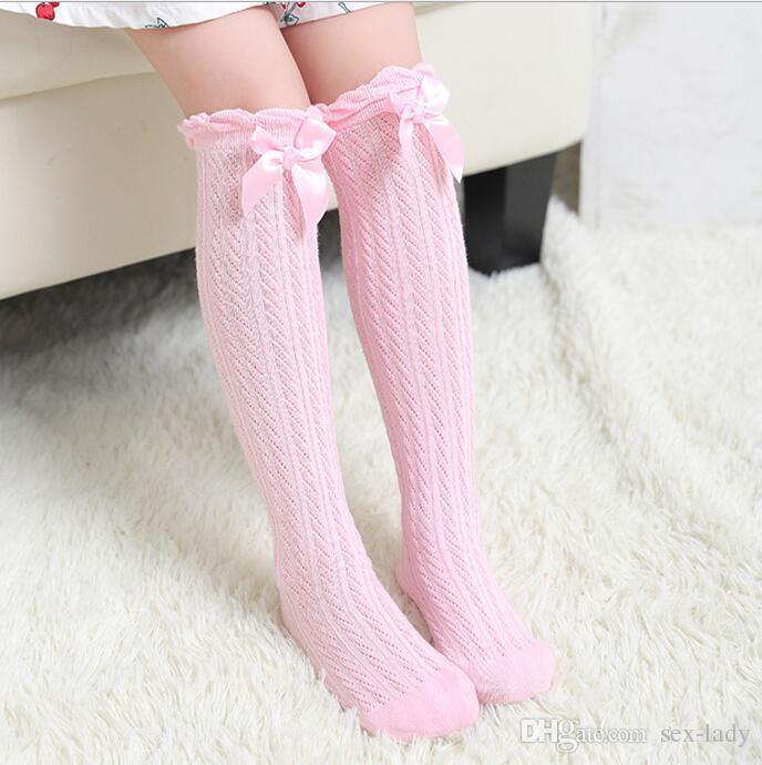 Les bébés et filles 1 paire plaine crème collants cottonsoft-différentes tailles