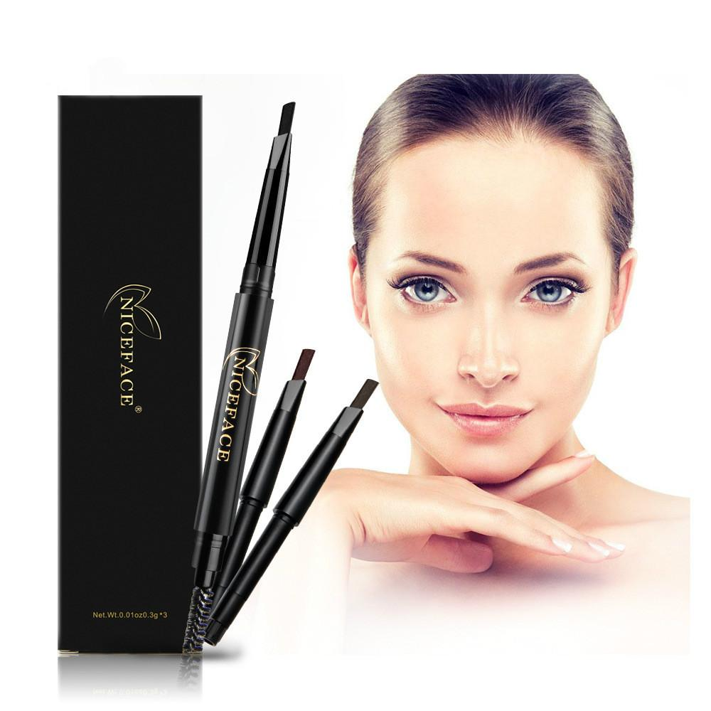 Maquiagem da marca Sobrancelha Automática Pro Lápis À Prova D 'Água Maquiagem 4 Estilo Lápis de Sobrancelha Pintura Cosméticos Sobrancelha Eye Liner Tools + 2 Recarga