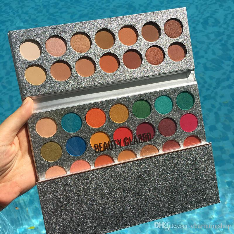 Top Quality with best price ! Makeup Beauty Glazed 63 Colors Eyeshadow Palette Gorgeous Me Eyeshadow Tray Eye Cosmetics