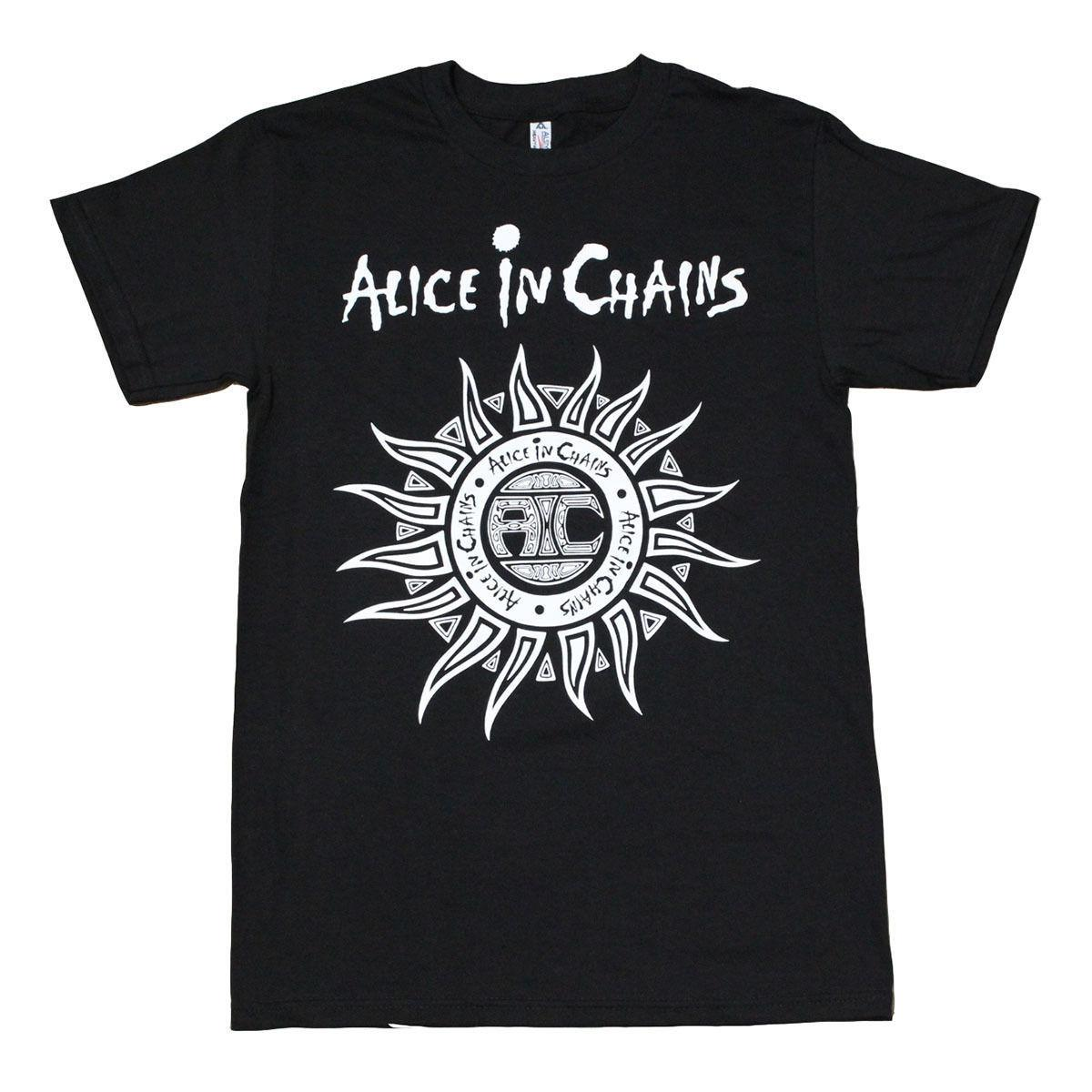 Alice in Chains Sun Logo Men's T-Shirt Black M 234XL XXL N539 T shirt O-Neck Summer Personality Fashion Men T-Shirts