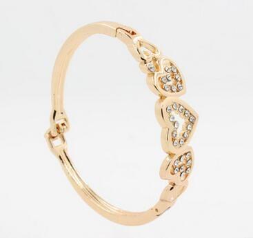 Новый европейский и американский ювелирный завод прямой моды сердце Алмаз сердце браслет