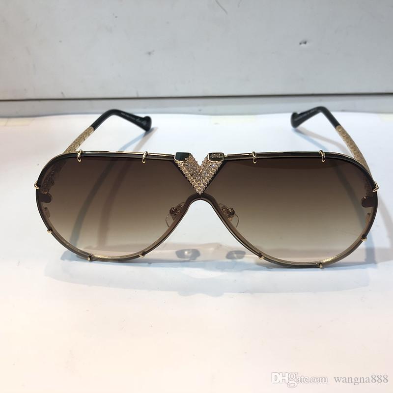 المليونير Z1060 النظارات الشمسية مع الحجارة الصغيرة الرجعية خمر الشعبية نظارات شهرة لامعة الذهب الصيف نمط مطلي أعلى جودة 1060 مع القضية