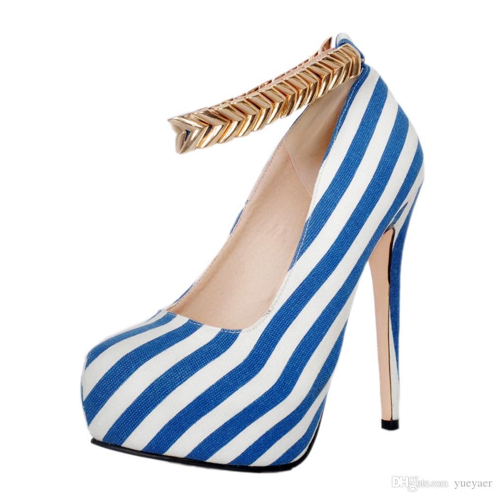 Zandina Femmes À La Main Talon Haut Plate-Forme Pompes Zebra Strap Style Métal Glitters Deco Party De Bal Soirée De Mode Club D'été Chaussures A047