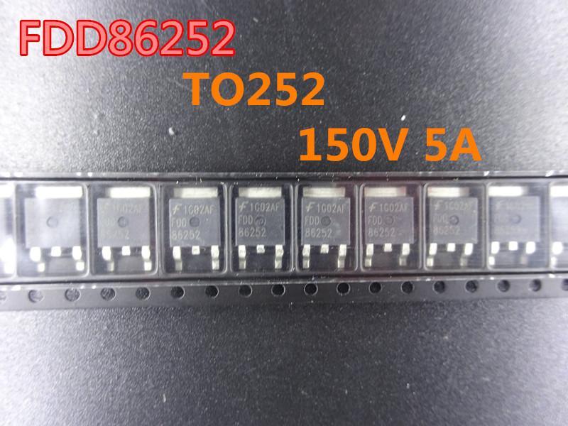 10 pçs / lote FDD86252 T252 150V 5A Transistor de Efeito de Campo