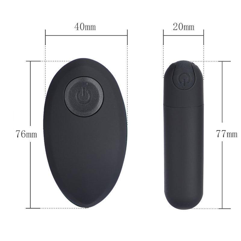 10 donne Vibe Y18110401 Bullet Sex Toys Giocattoli Clitoris G-Spot Vibratore Remoto per vibrazione Speed Egg Prodotti sesso Prodotti di controllo Stimolatore Wireles Slft