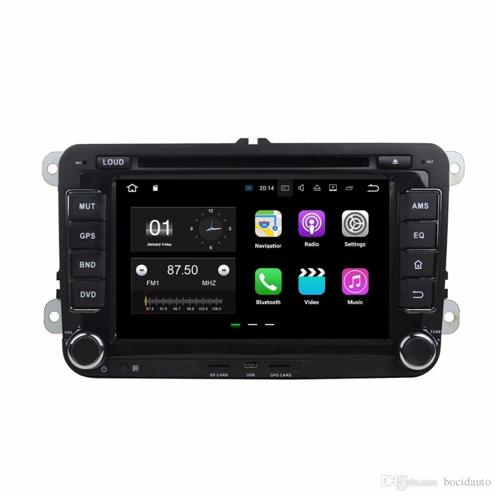 "Quad Core 2 din 7"" Android 7.1 Car DVD Player for Volkswagen VW Golf Passat MK5/6 Polo Jetta Tiguan Caddy CC Skoda Fabia Octavia"