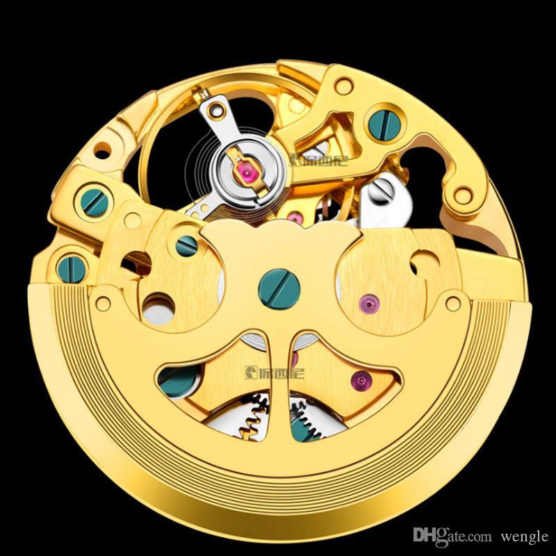 Sun Wengle Men 2018 Precision Waterproof Automatic Design Moon Flywheel Fashion Watch Diamond Luminous Mechanical New Txerx