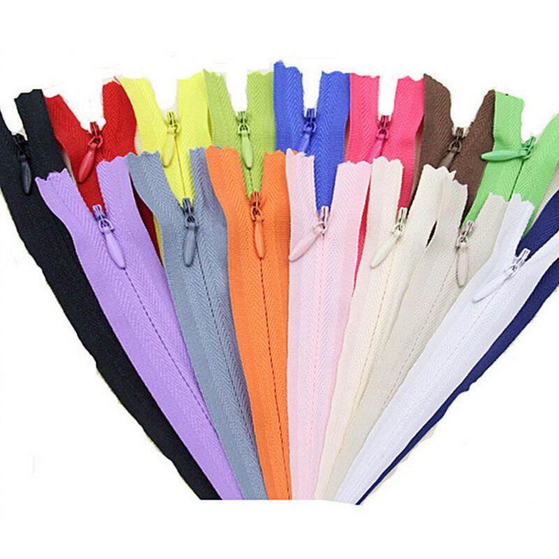 보이지 않는 지퍼 DIY 나일론 코일 지퍼 바느질 옷 쿠션 베개 재단사 도구