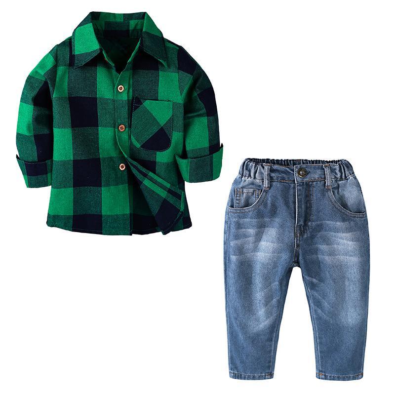 2018 herbst Kleinkind Kinder Kleidung Jungen Kleidung T-shirts + Jeans Sport Anzüge Für Jungen Outfits 2 5 6 7 Jahre Kinder Kleidung Sets