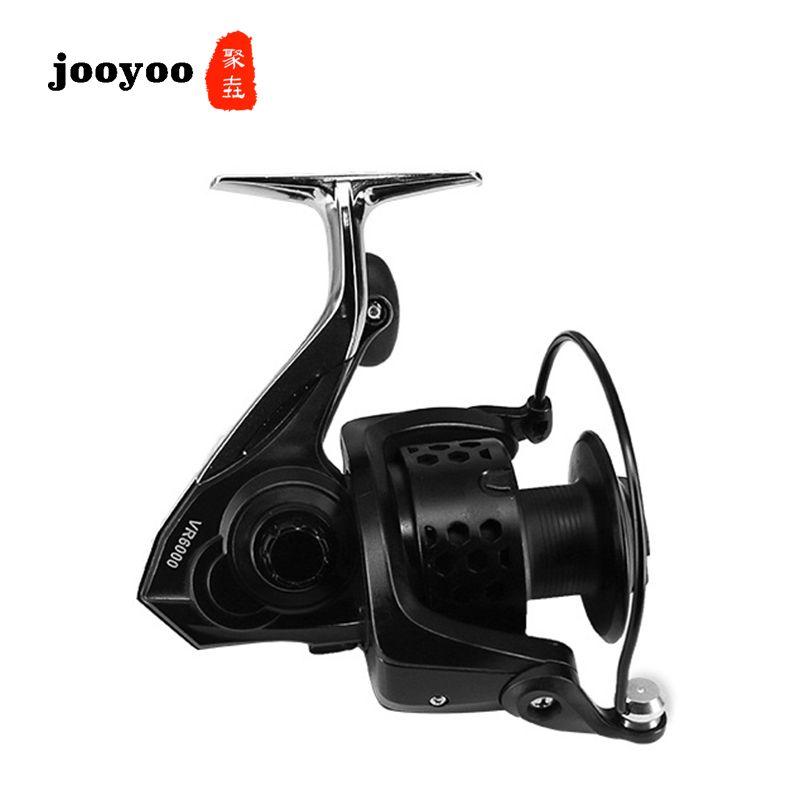 Metal Spool Spinning Spinning Type 3000 4000 5000 Series 6.0:1 Fishing Reel 11+1BB Wheel Gear Ratio Knob Handle Right Left Hand