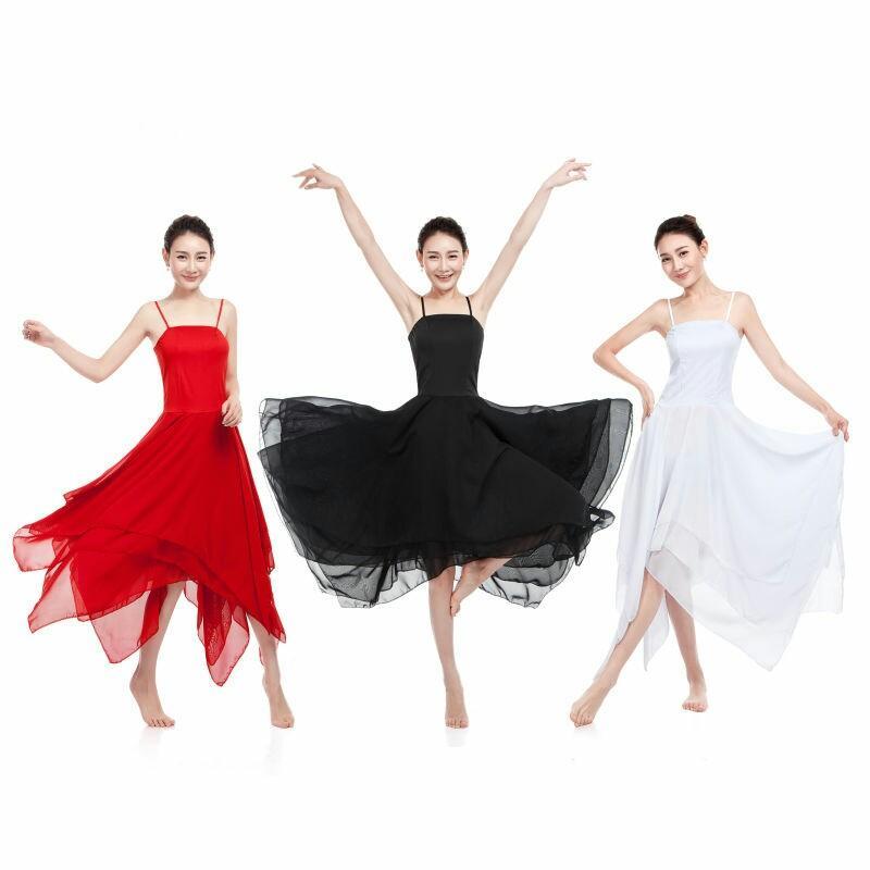 Neue Elegante Lyrical Modern Dance Kostüme für Frauen Ballett Kleid Erwachsene Zeitgenössische Tanz Kleider Praxis Kleidung Leistung