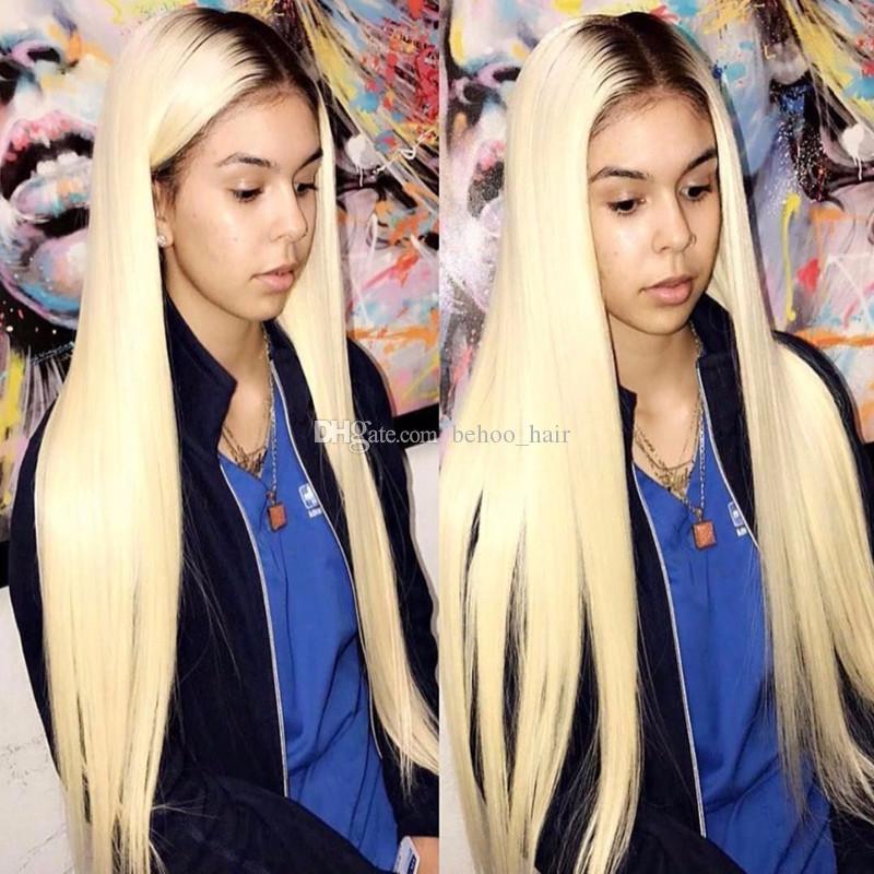 150% Dichte 1b 613 Ombre Blonde Spitze-Front-Menschenhaar-Perücken Pre Zupforchester Spitze-Front-Perücke mit Baby-Haar Remy Haar