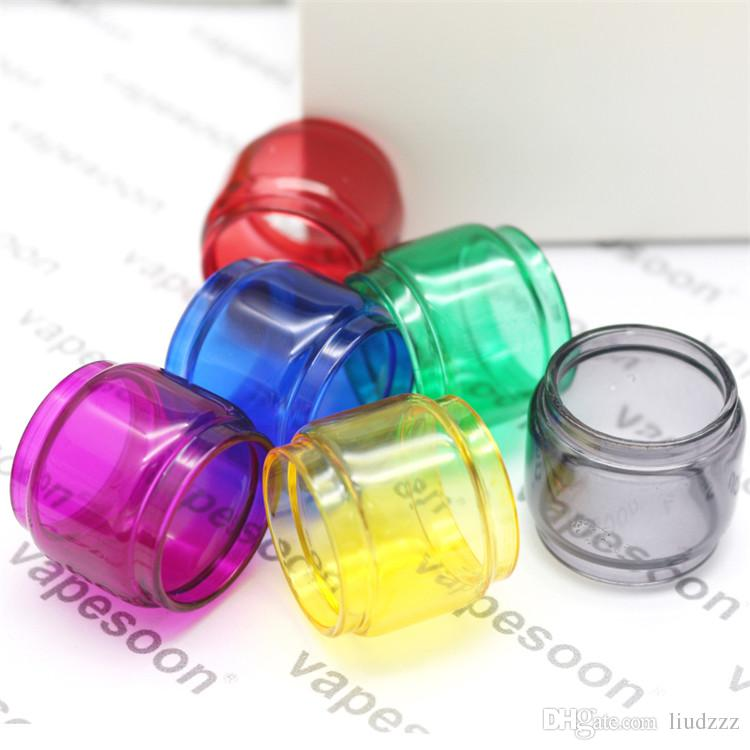 Tubo colorato in vetro Pyrex per TFV12 Prince Tank 8ml Capacità Atomizzatore Stick Stick Prince / Mag 225w TC Kit