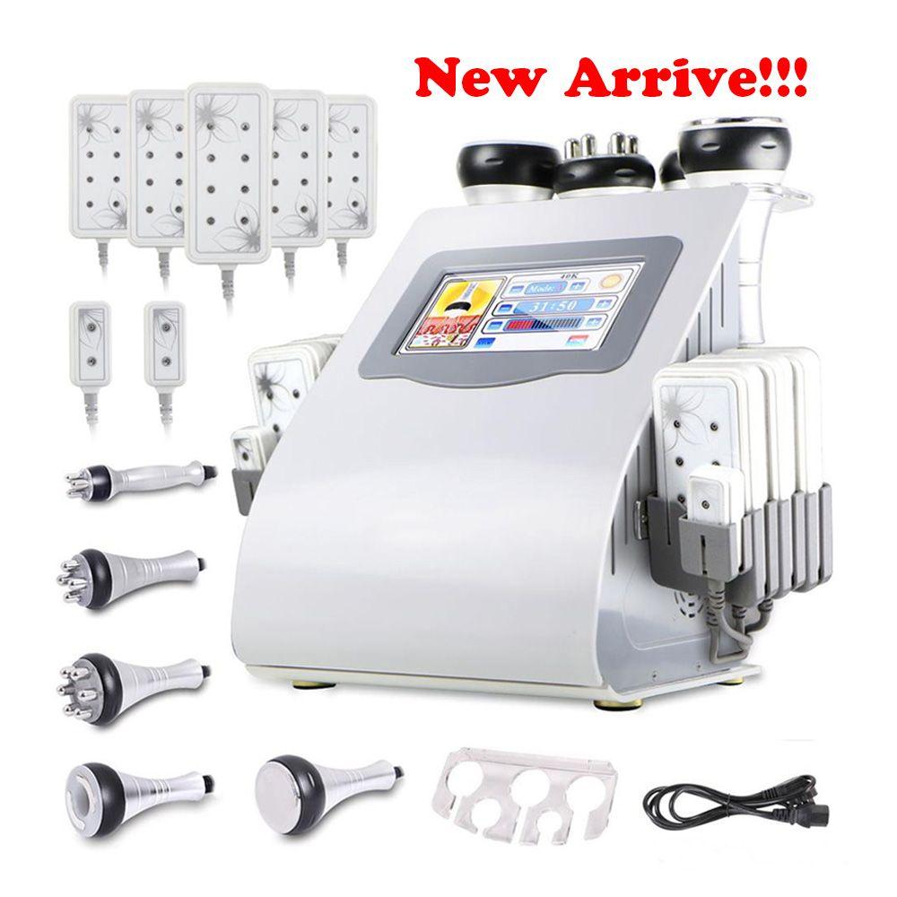 2018 Ultrasonic Liposuction Cavitation RF Lipo Laser Slimming Machine With 6pcs Lipolaser Pads Ultrasound Vacuum RF Weight reduce Machine