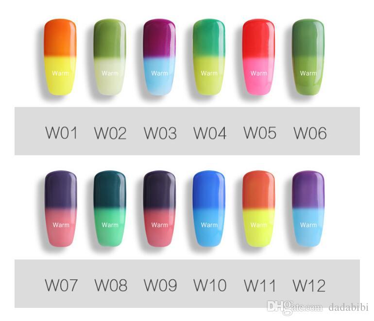 WIINLIAN Nail Gel Manicure تغيير اللون مع تغيير درجة الحرارة متعدد الألوان FREE SHIPPING