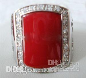 Nefis Kırmızı Beyaz Mavi Yeşil yeşim gümüş erkek yüzük boyutu: 8.9.10.11.12Free Hediye 4 tarzı seçimi