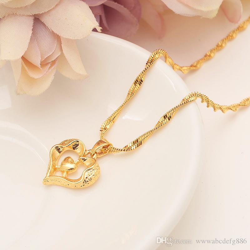 Heart cross Pendant and Necklaces Romantic Jewelry Fine Gold Filled for Womens,Wedding gift,Girlfriend Wife Gifts