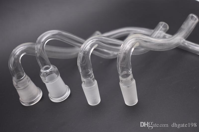 Glass J-Hook Adapter 14mm 18mm macho hembra conjunta para tubo de vidrio de agua Bongs Cenicero Bowl envío gratis