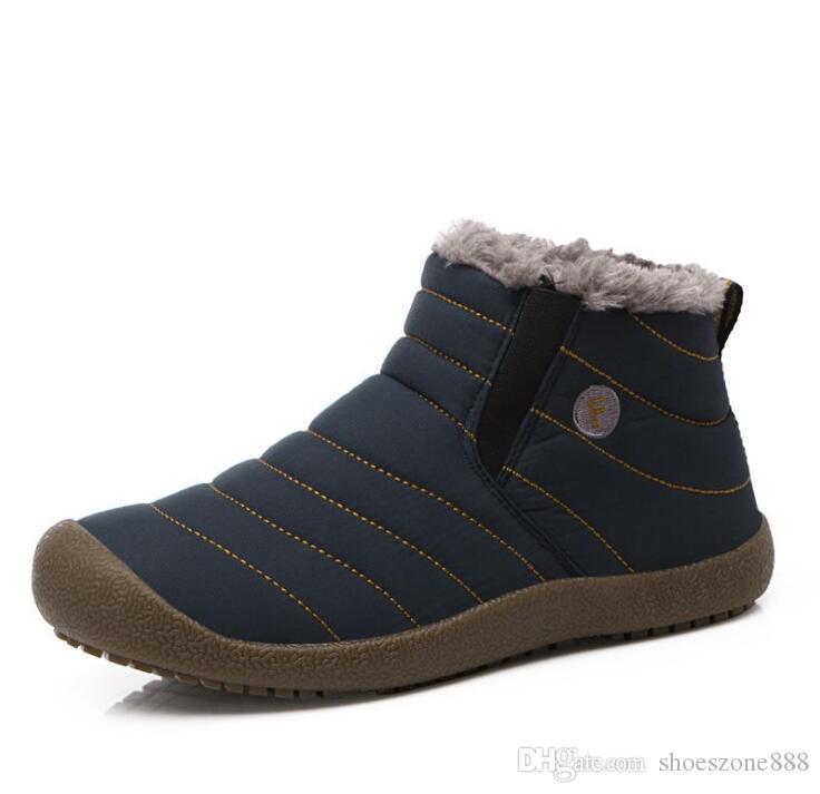warme Plüsch wasserdicht Mann winter Schnee Stiefel Schuhe unisex Stiefeletten Pelz rutschfeste Frauen casual Stiefel outdoor zx892