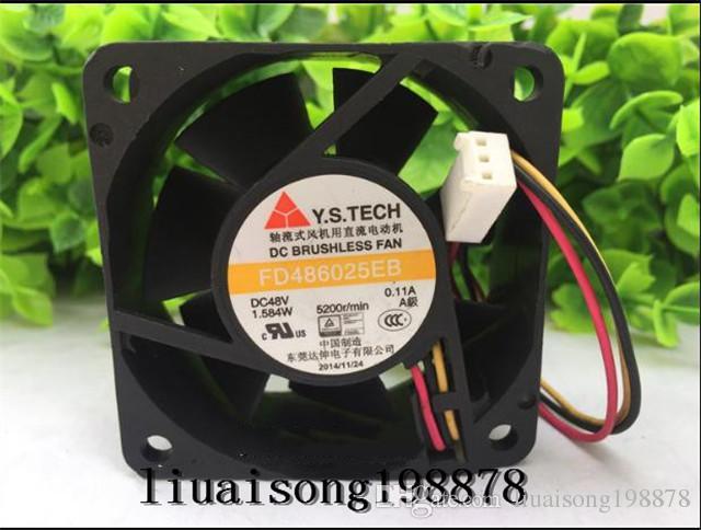 Y.S.TECH 6025 용 냉각 팬 FD486025EB FD486025HB 48V 0.11A 3Wire