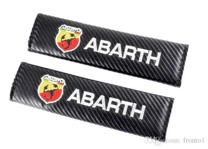 자동차 액세서리 안전 벨트 커버 탄소 섬유 시트 벨트 커버 Abarth 500 Fiat 유니버설 어깨 패드 자동차 스타일링 2pcs / lot