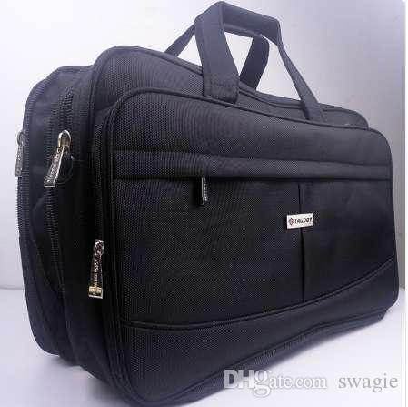 Sacchetto portatile del computer portatile di capacità eccellente sacchetto del computer multifunzionale dell'uomo di affari della borsa della spalla della grande capacità da 19 pollici