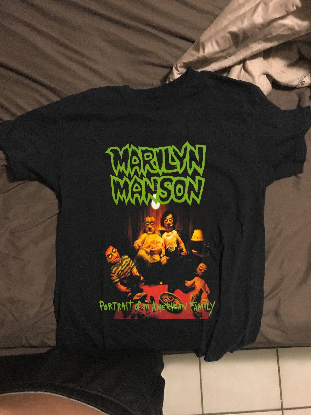Official T Shirt MARILYN MANSON Portrait of an American Family All Sizes