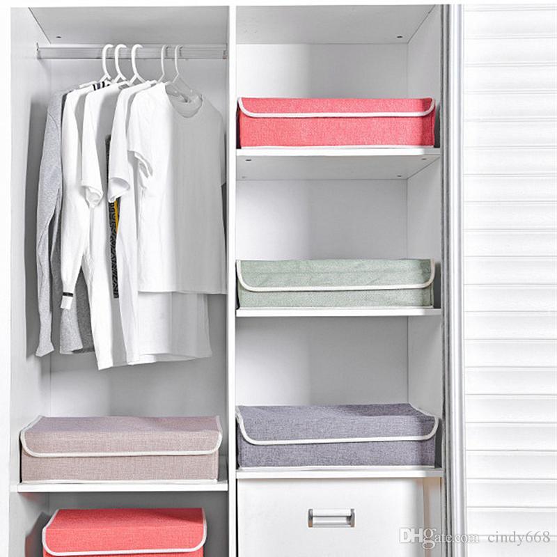 Washable 17 Grid Underwear Organizer Large Size Socks Bra Storage Box Foldable Covered Clothes Finishing Box Closet Organizer Case Wardrobe