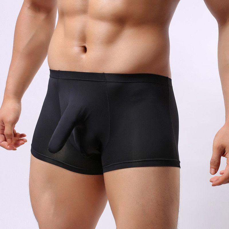 d5ec4c95939b1b Sexy Gay low rise Elephant Penis Trunk Boxers Funny Erotic boxershorts  scrotum cueca Boxer Shorts Mens Pouch underwear for men