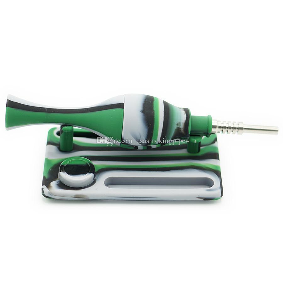 водопроводная труба термостойкая индивидуальный дизайн переносная курительная трубка титановый кальян неразрушаемый кальян, силиконовая бонг буровая установка