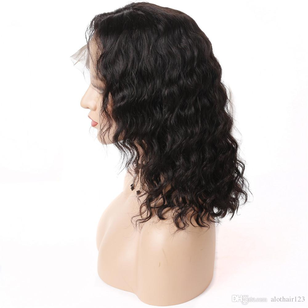 Bob Lace Front Wigs Human Hair With Baby Hair Glueless Short Bob Wig For Black Women Malaysian Body Natural Wavy Lace Wigs