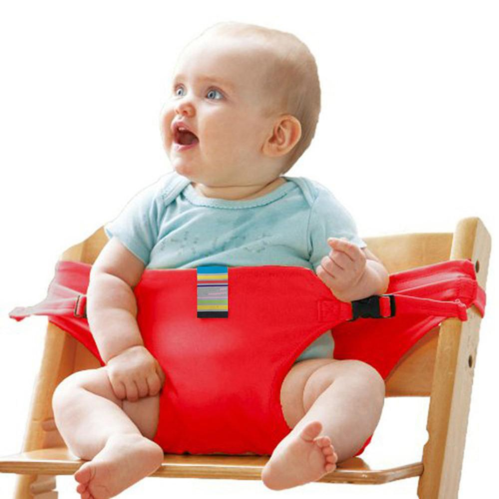 Portable Baby Dinning Chair Children High Chairs Seat Belts Safety Belt Folding Dining Feeding Kid Dining Belt Portable G0320