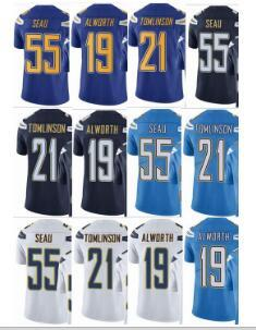 quality design 15f03 9860a 2019 Charger 21 Junior Seau 21 LaDainian Tomlinson 19 Lance Alworth Men  Women Youth Vapor Untouchable Color Rush Custom Elite Football Jersey From  ...