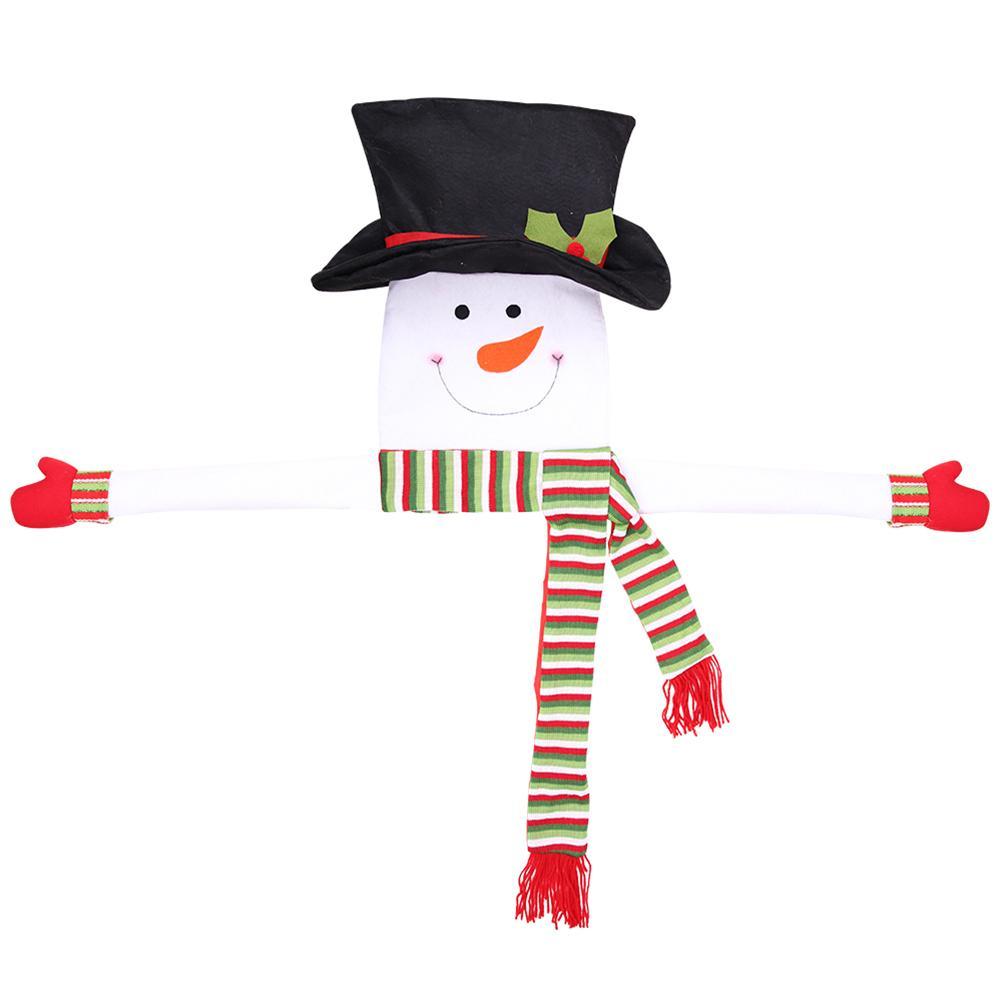 Bonhomme de neige sapin de Noël pour Noël / vacances / hiver au pays des merveilles décoration ornement fournitures (vert)