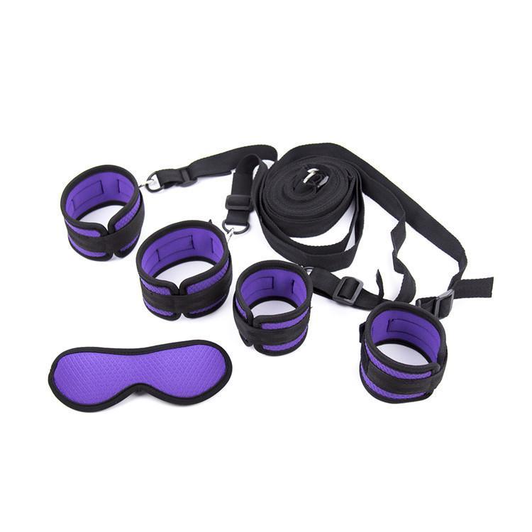 БДСМ бондаж передач под системой ограничения кровати запястья лодыжки манжеты спальня фетиш играть с завязанными глазами взрослых Секс-Игрушки для пар gn352301024