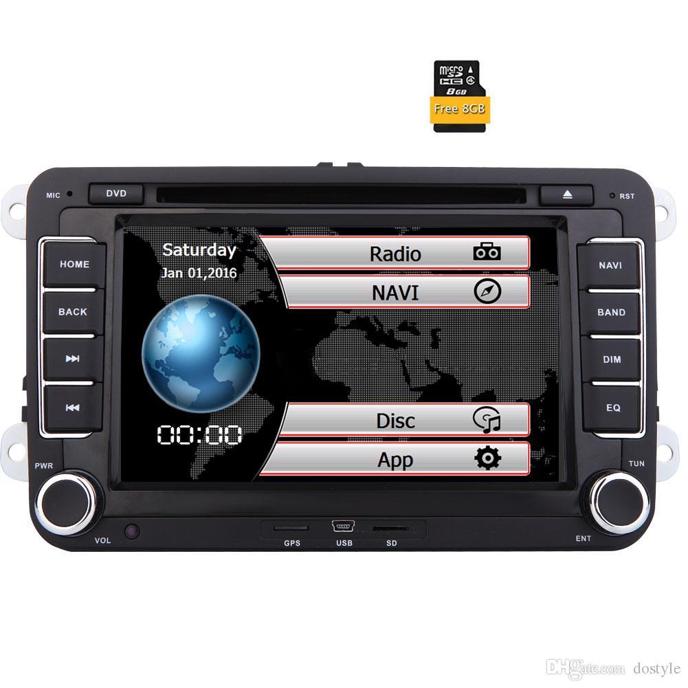 Eincar Double Din 7'' Touch Screen Car Stereo for VW Golf Skoda Passat Head Unit In Dash Bluetooth Navigation Car DVD Multimedia Player