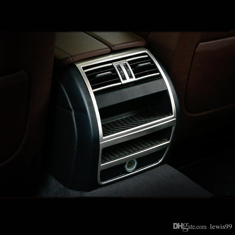 Car styling Rear Air conditioning vent Decorative Frame air outlet Cover trim strip stickers for BMW F10 5 Series Auto Accessories