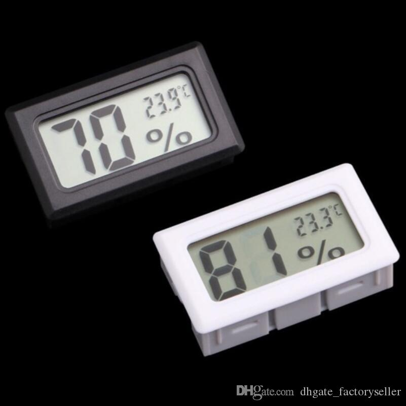 Embedded Electronic Mini For Freezer Refrigerator Hygrometer LCD Thermometer