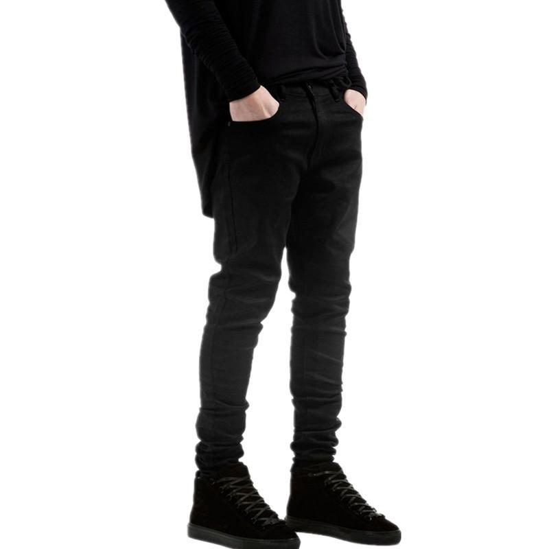 Compre Nueva Moda Para Hombre Negro Skinny Jeans Pantalones Hi Street Hip Hop Swag Hombres Denim Joggers Pantalones Famosos Elastico Disenador Hombres Pantalones A 20 03 Del Clothingcart Dhgate Com