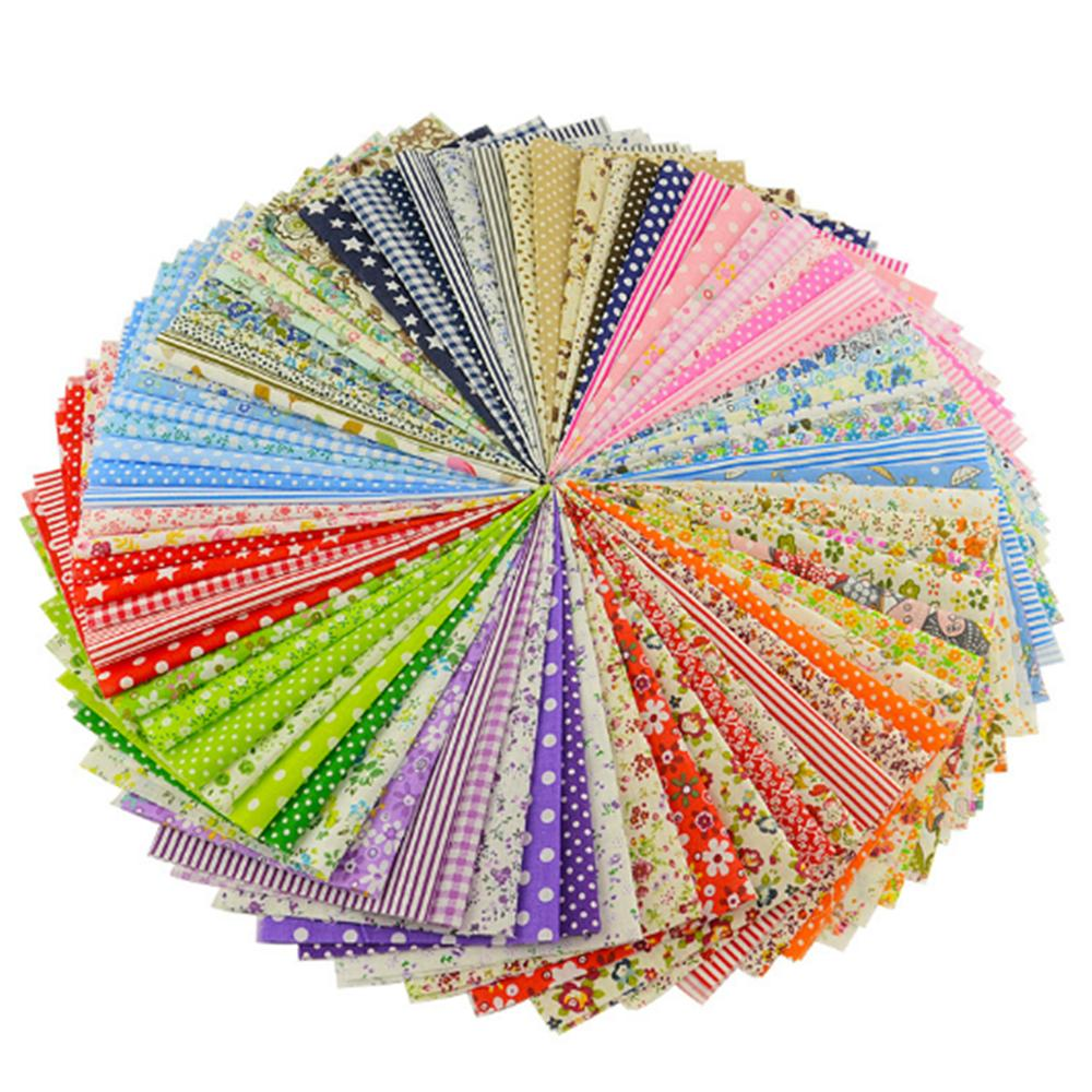 New 50pcs 10x10cm Cotton Fabric Telas Patchwork Fabric Fat Quarter Bundles For Sewing Patchwork Doll Clothes 2A0268